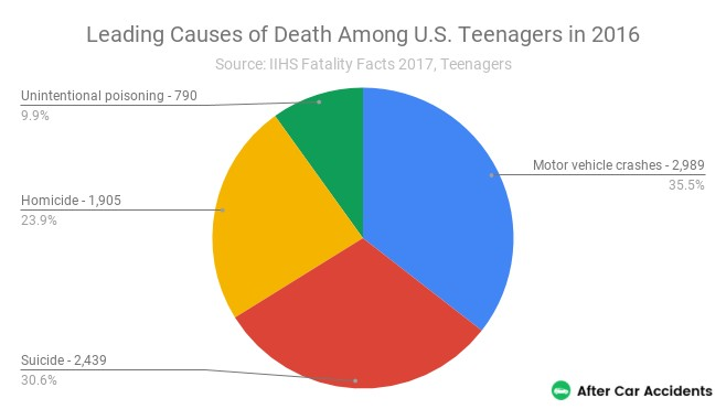 Causes of Death Teenagers 2016